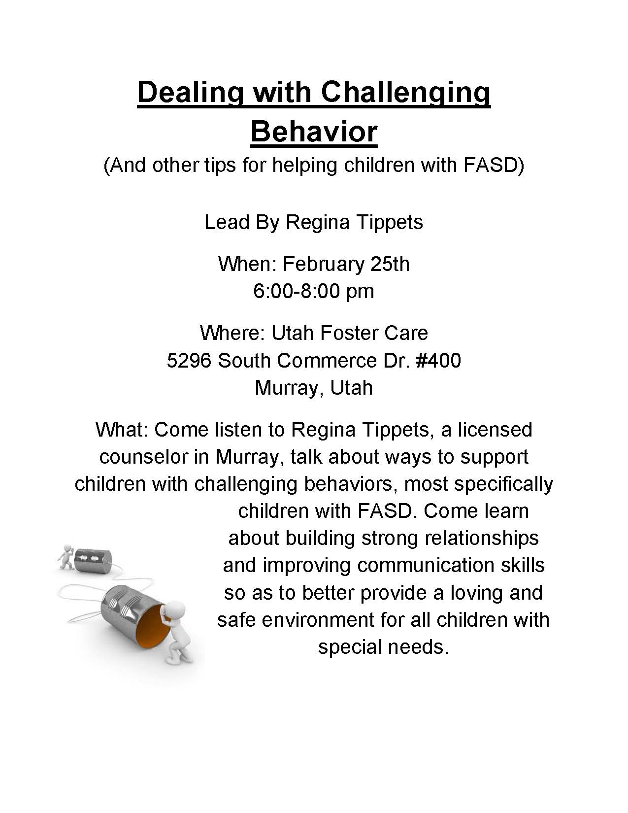 Challenging Behavior Handout
